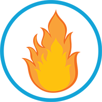 Imminent Threat Alert, Fire Icon